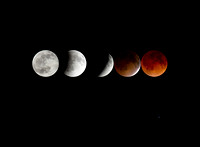 5 Phases of the 4.15.14 Blood Moon Eclipse